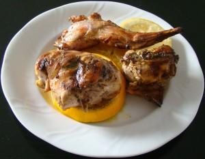 conejo al horno con naranja y limÓn
